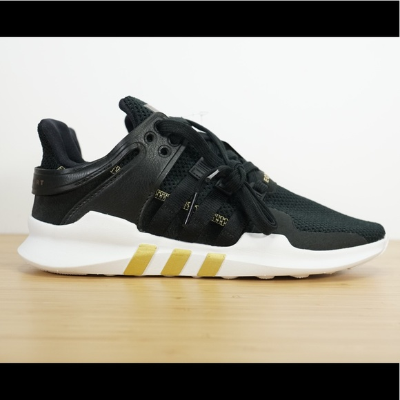 Womens Adidas Equipment EQT Support ADV Black Gold 18e9d9948